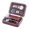 Portable 4 Slot PU Leather Watch Box (Brown)
