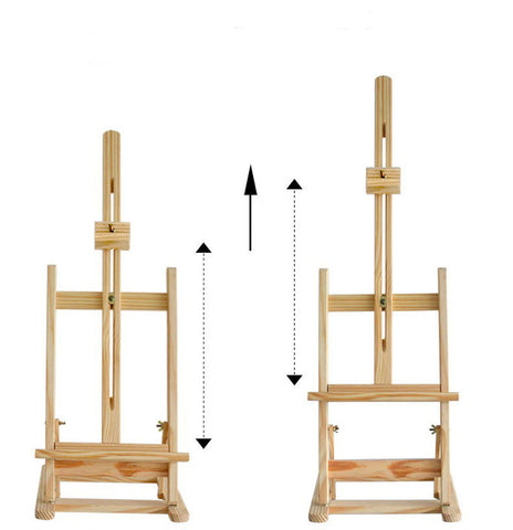 Adjustable Wooden Tabletop Studio H-Frame Easel