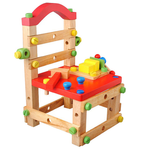 Wooden Construction Work Bench Chair kits for kids