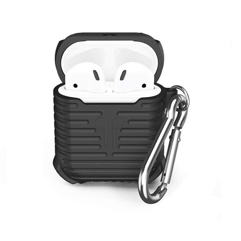 Silicone Shockproof Protective Cover Case For AirPods-Black