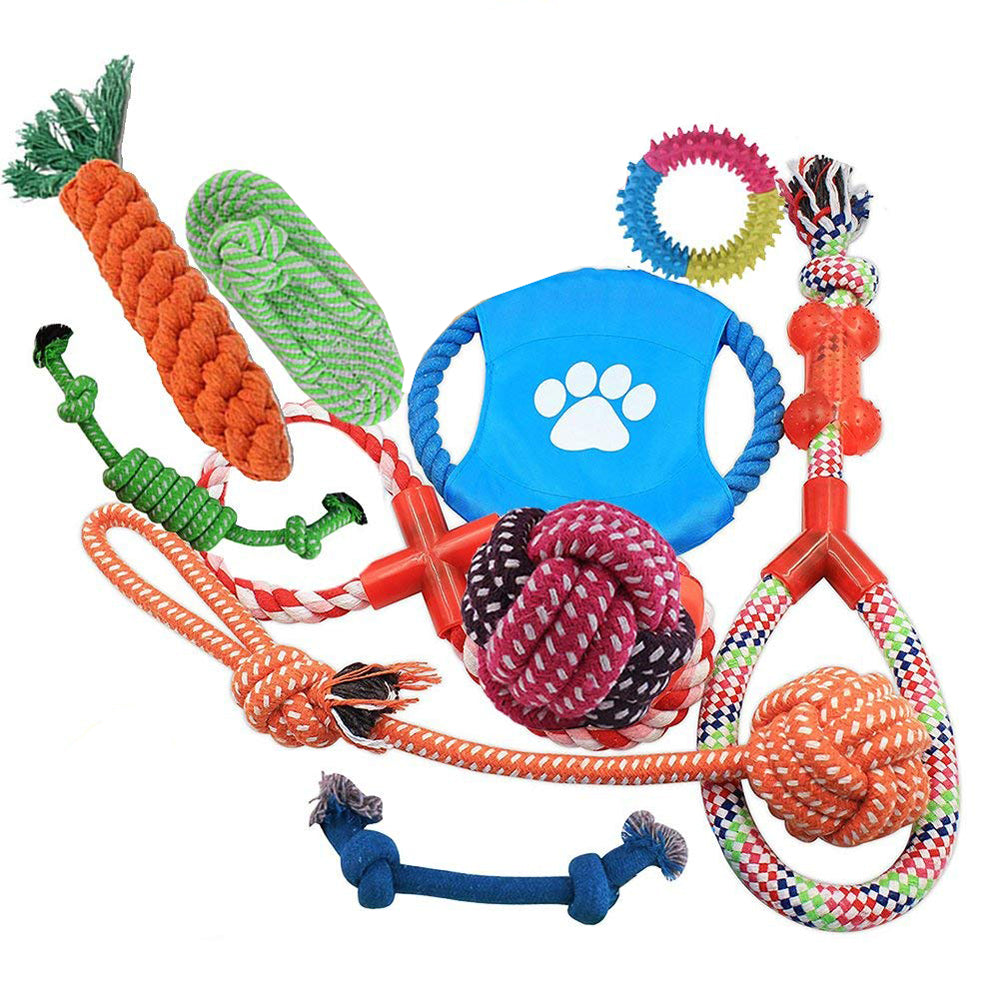 Multi-colour Dog Rope Toys 10 Pack Set