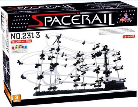 Space Rail Marble Roller Coaster With Steel Balls Level 3 16000mm Spacerail Spacewarp