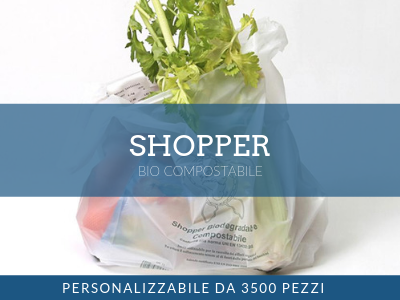 Shopper bio compostabile personalizzabile