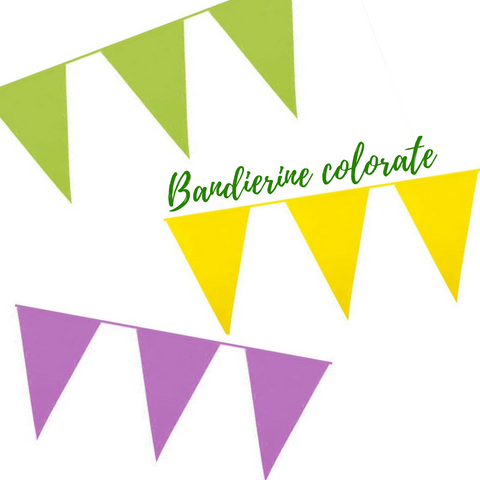 Bandierine colorate in pvc € 2,20 cad+iva