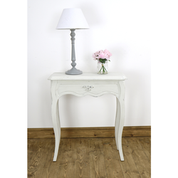 Leona White Lamp Table