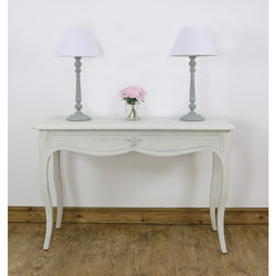Leona White Console Table