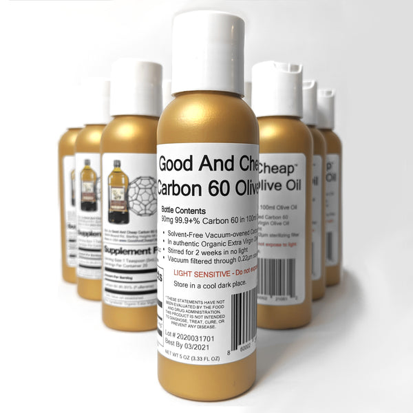 Carbon 60 Olive Oil 90mg / 100ml Organic C60 Supplement 99.9+% Solvent Free C60oo by Good And Cheap with Free shipping