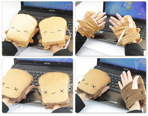 USB Heated Plush Gloves