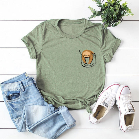 Image of Comfy Lazy Sloth Graphic Tee