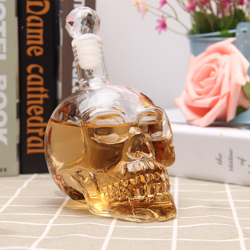 Crystal Skull Alcohol Bottle