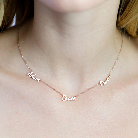 Image of Dainty Multi-Name Necklace
