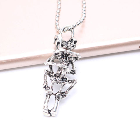 Image of Skeleton Infinity Love Necklace