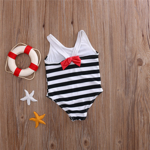 Striped Kitty Bathing Suit