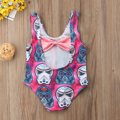 Sugarskull Print Bathing Suit