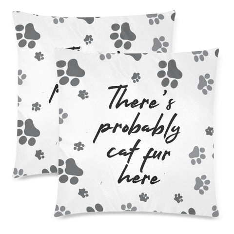 Image of There's Cat Fur Here - Throw Pillow Cover (Nine Yards Exclusive)