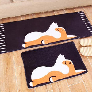 Sleepy Corgi Bath Mat