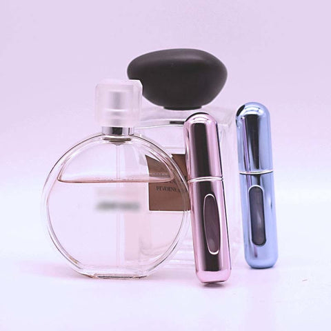 Stylish Compact Perfume Storage Bottles