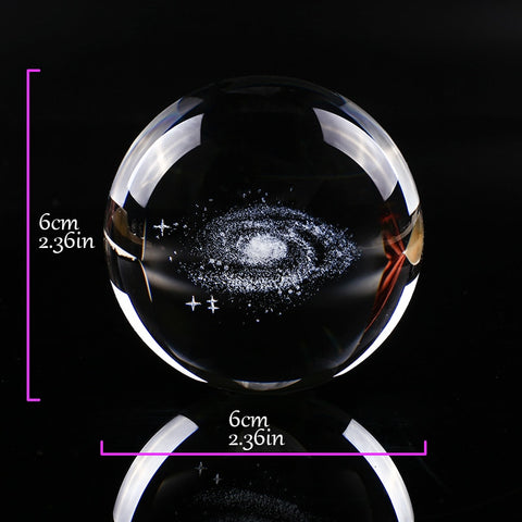 Image of Galaxy Miniature Crystal Sphere