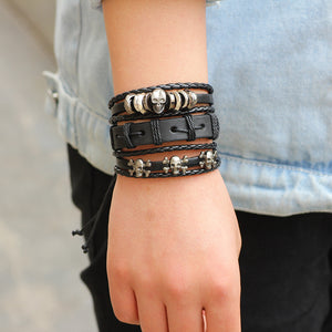 Leather Layered Bracelets
