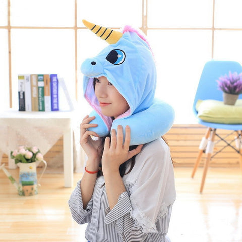 Image of Adorable Unicorn Pillow Neck