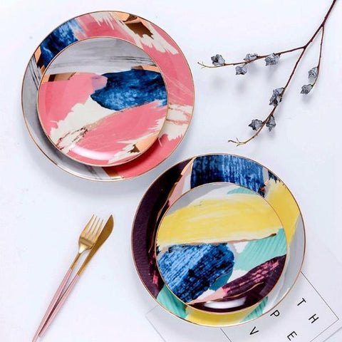 Image of Abstract Art Dinner Ware
