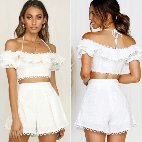 Image of Vintage Off-Shoulder Romper