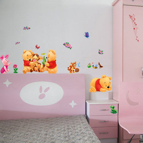 Pooh Bear Wall Stickers