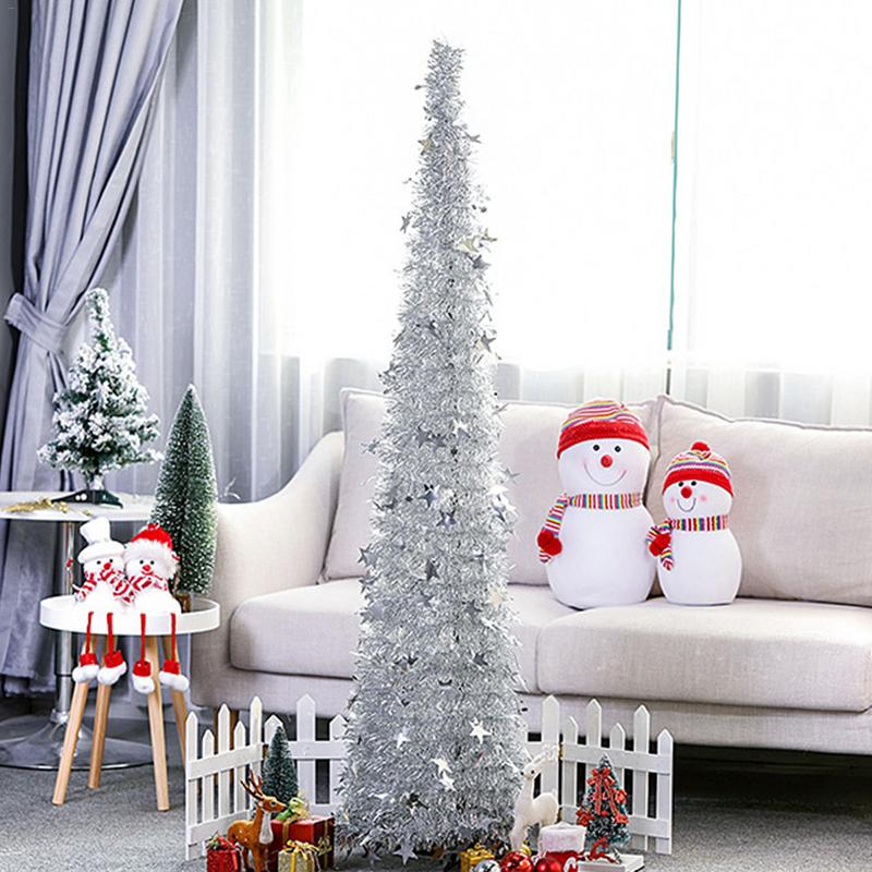 Artificial Tinsel Christmas Tree