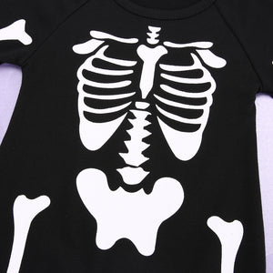Adorable Skeleton Baby Romper
