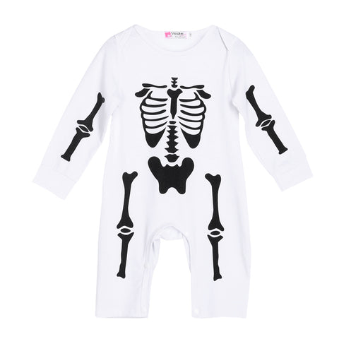 Image of Adorable Skeleton Baby Romper