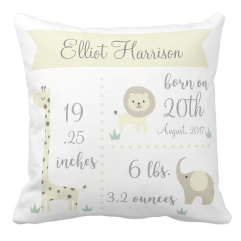 Image of Personalized Baby Pillow Case