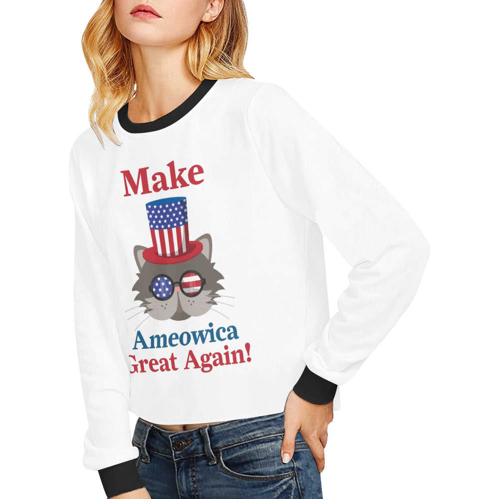 Ameowica Cropped Sweatshirt (Nine Yards Exclusive)