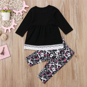 Toddler Lace Skull Set