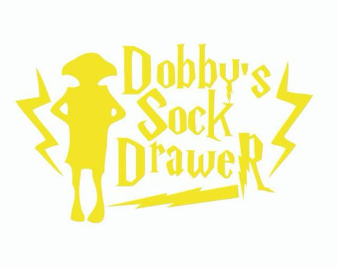 Dobby's Sock Drawer Wall Sticker