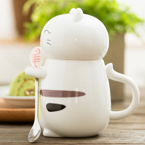Image of Fishy Ceramic Kitty Mug