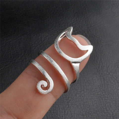 Spiral Kitty Wrap Ring
