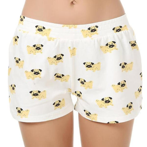 Image of Adorable Pug Pyjamas Shorts