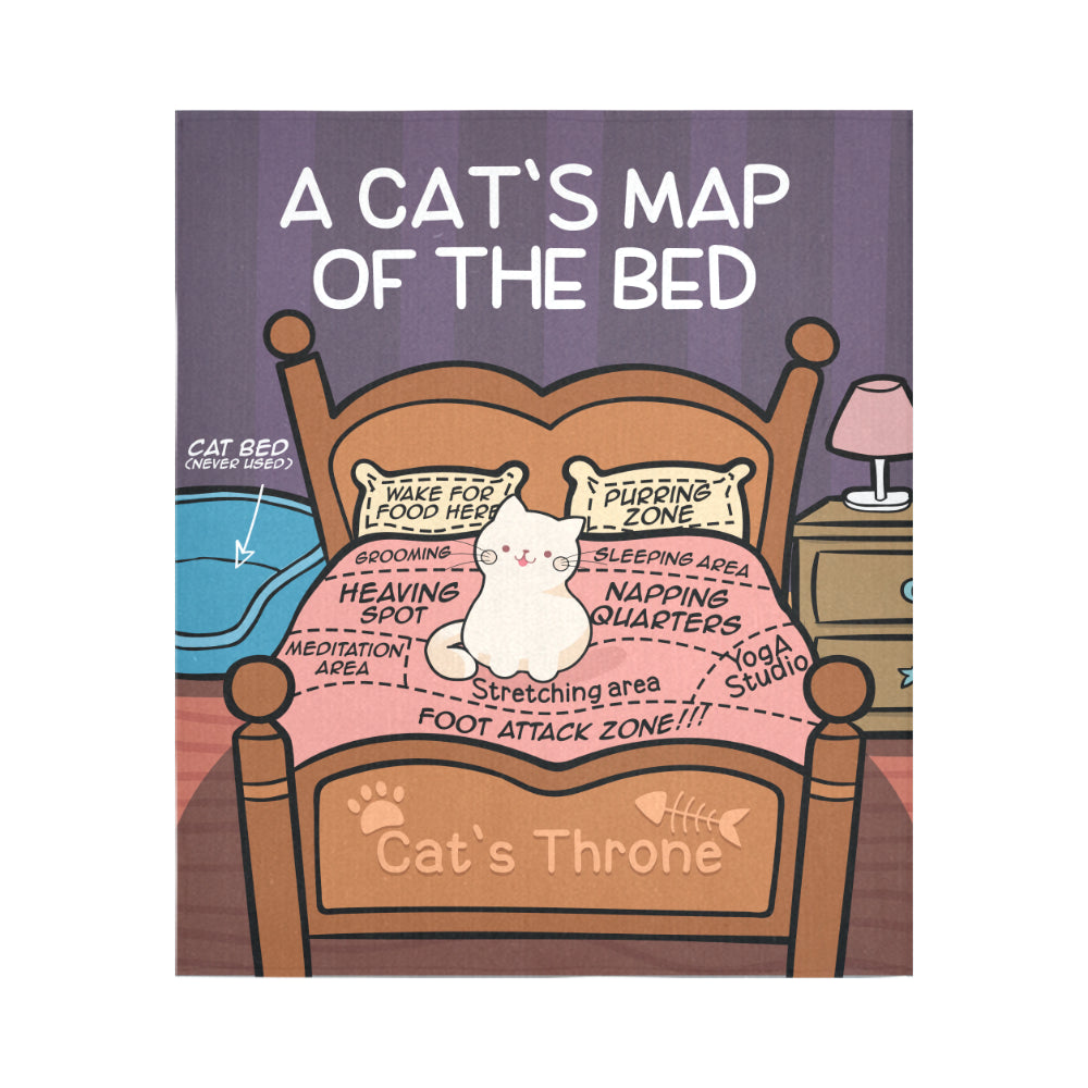 Cat's Map Wall Tapestry (Nine Yards Exclusive)