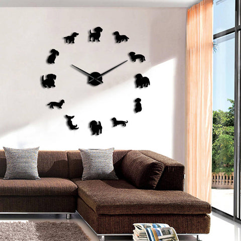 Image of Modern Dachshund Frameless Wall Clock
