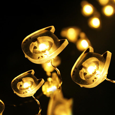 Image of Adorable Kitty Fairy Lights