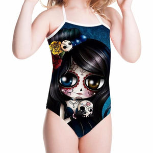 Sugarskull Cartoon Bathing Suit