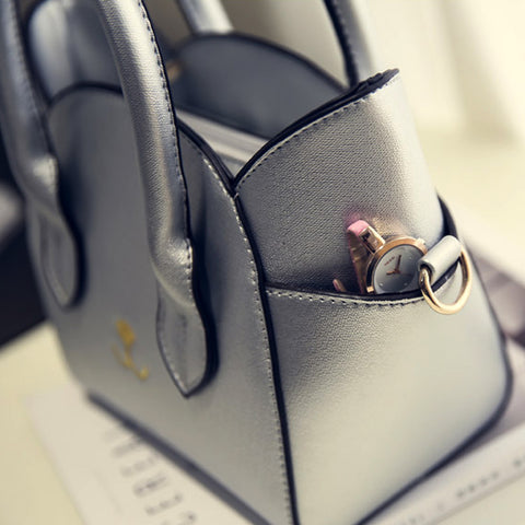 Image of Leather Kitty Handbag