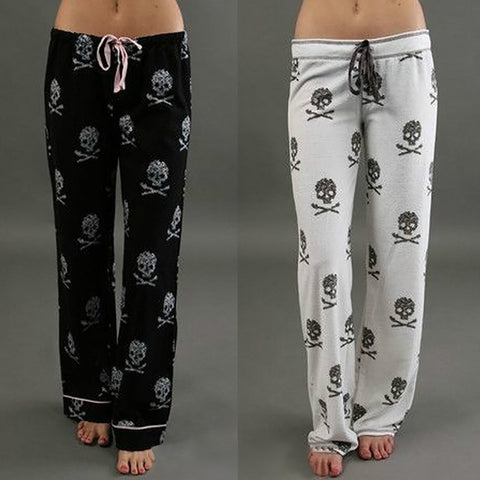 Image of Wide-Leg Skull Joggers