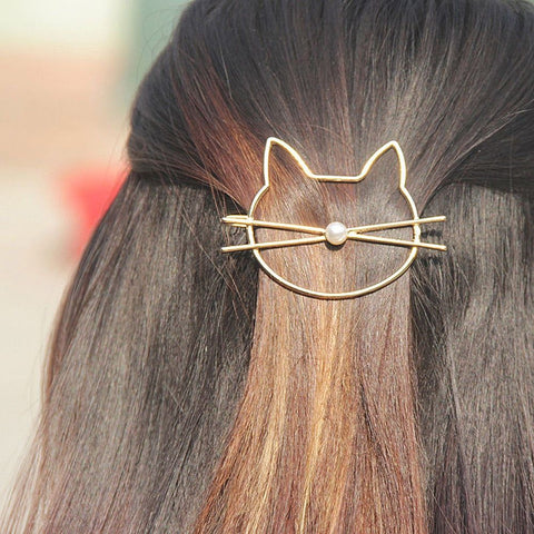 Kitty Whiskers Hair Clip