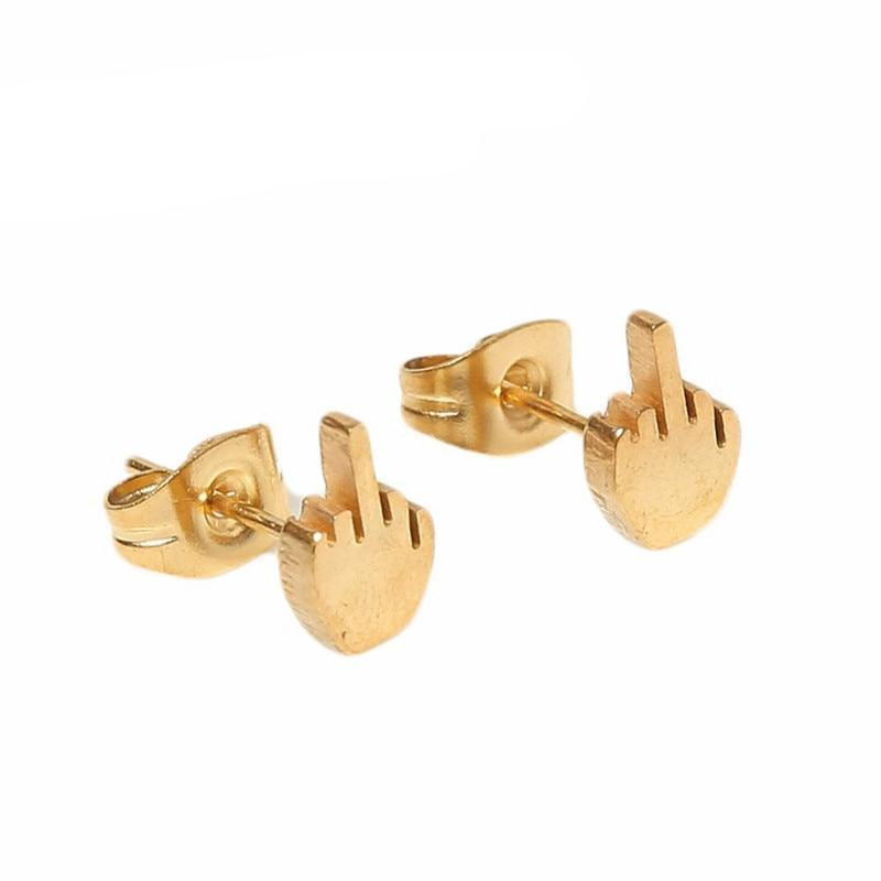 Fashionable Middle Finger Earrings