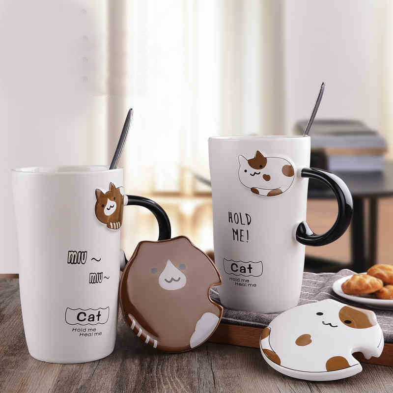 Clingy Kitty Ceramic Mug