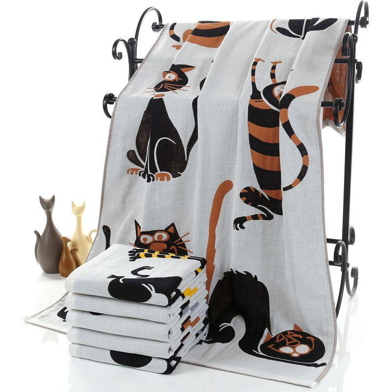 Comfy Kitty Bath Towel