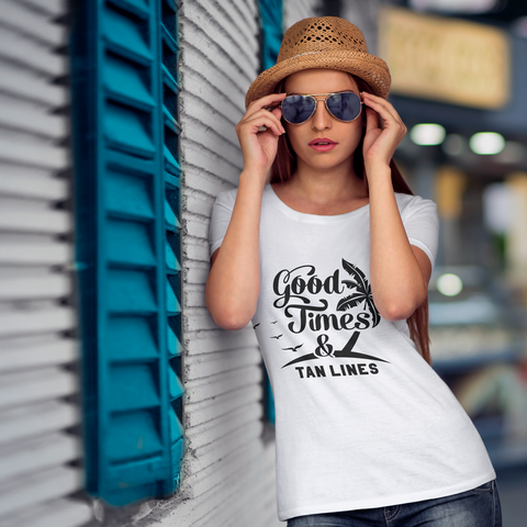 Image of Good Times & Tan Lines Women's Tee (Nine Yards Exclusive)