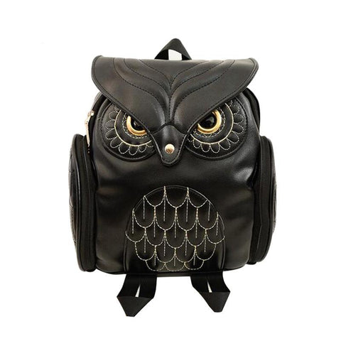 Image of Owl Leather Backpack