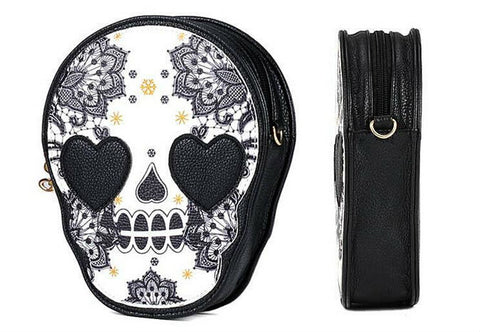 Image of Heart Skull Crossbody Bag
